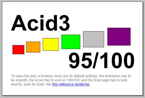 internet Explorer 9 acid 3